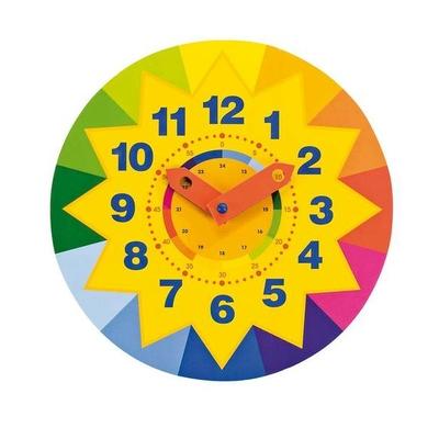 Horloge soleil en bois - Apprendre l'heure GOKI