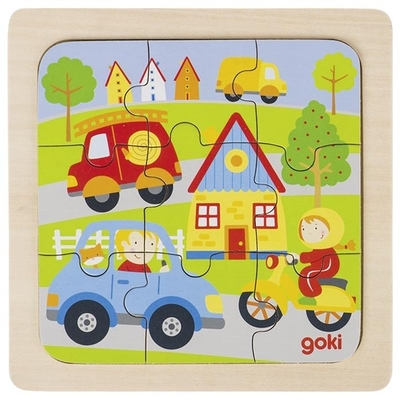 Puzzle en bois ville GOKI