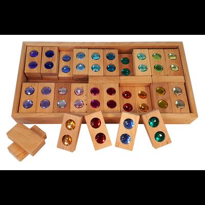 La route des couleurs - 45 pièces de construction en bois Bauspiel