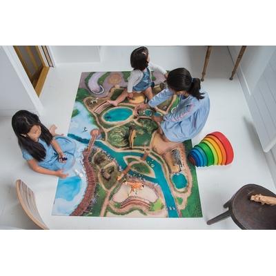 Tapis de jeu Carpeto Le Royaume des Animaux 120 X 180 cm