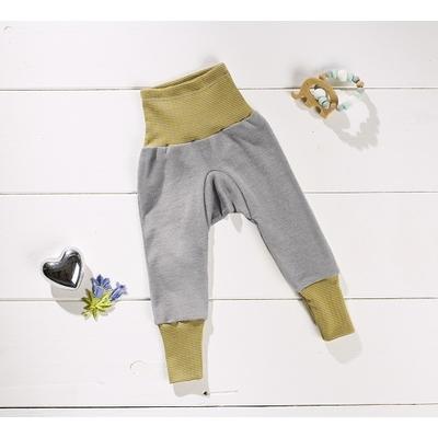 Cosilana Pantalon gris/vert - laine/soie