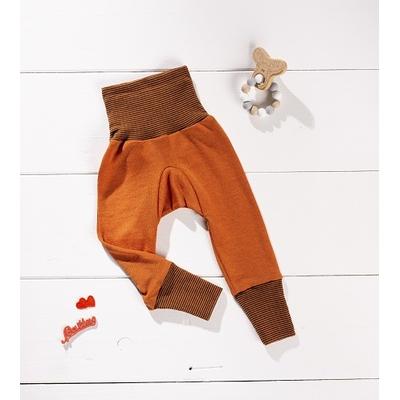 Cosilana Pantalon orange/rouille - laine/soie