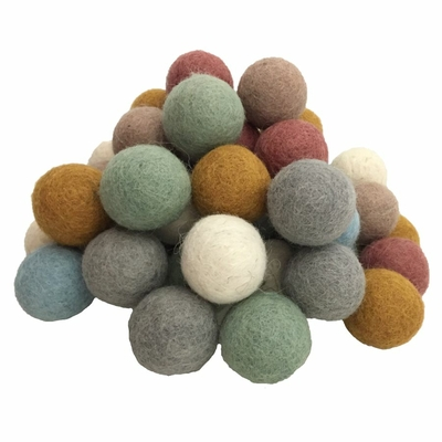 Balles 3,5cm en feutrine Earth - set de 49 Papoose
