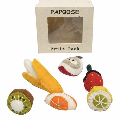 Mini fruit en feutrine - Set de 6 Papoose