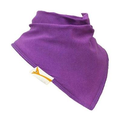 Bavoir Bandana Funky Giraffe: uni violet