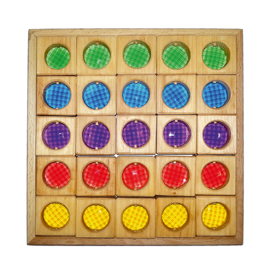 Set de 25 fenêtres translucides colorées Bauspiel