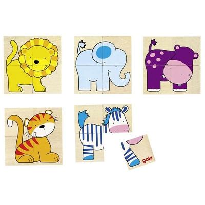 Puzzle & Mémo Animaux sauvage GOKI