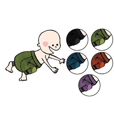ManyMonths Longies en laine avec genouillères - coloris 2020