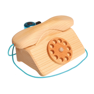 Téléphone rétro en bois GRIMMS