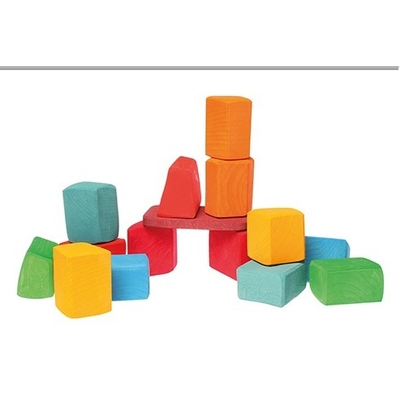 15 blocs Waldorf colorés Grimm's