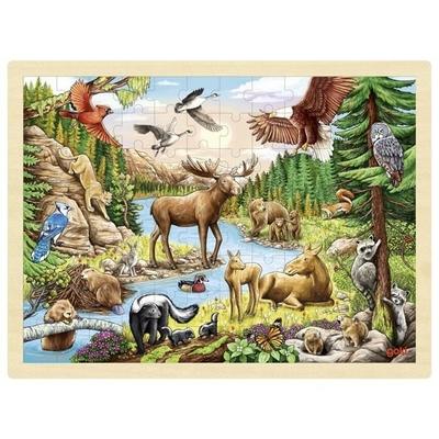 Puzzle Animaux Amérique du nord 96 pièces GOKI