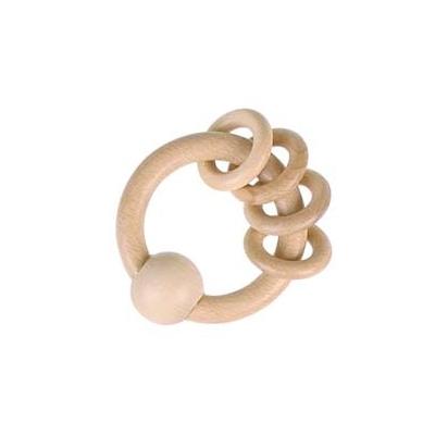 Hochet HEIMESS Naturel 4 anneaux