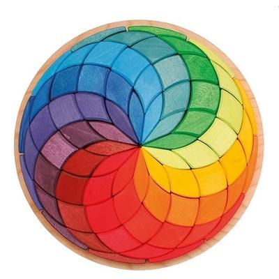 Grande spirale mosaïque de couleurs Grimm's
