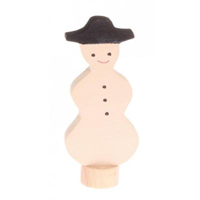 Figurine en bois bonhomme de neige