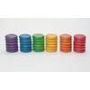 36-Pièces-colorées-6-couleurs-en-bois-Grapat