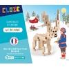 Jeu de construction en bois le rennes CLOZE