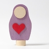 03993 Figurine en bois Matriochka coeur Grimm's