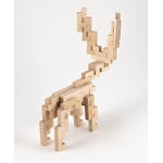 Jeu de construction en bois le rennes CLOZE 3