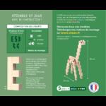 Jeu de construction en bois Girafe CLOZE 2