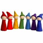 Gnomes Rainbow - set de 7 Papoose