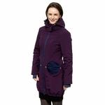 Liliputi Mamacoat manteau de portage et grossesse 4en1 Blue Plum 01