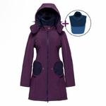 Liliputi Mamacoat manteau de portage et grossesse 4en1 Blue Plum 1