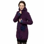 Liliputi Mamacoat manteau de portage et grossesse 4en1 Blue Plum 3