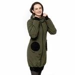 Liliputi Mamacoat manteau de portage et grossesse 4 en 1 Forest Green 3
