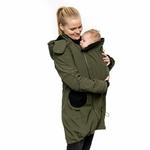 Liliputi Mamacoat manteau de portage et grossesse 4 en 1 Forest Green