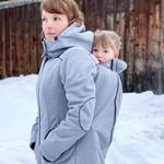 Liliputi Mamacoat manteau de portage et grossesse 4 en 1 Shark 5