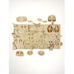 Puzzle Puzzle à couches Empreintes d'animaux Stuka Puka
