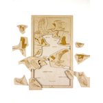 Puzzle en bois A la découverte des oiseaux Stuka Puka