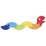 90257426_Puzzle serpent en feutrine Goki