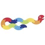 90157426_Puzzle serpent en feutrine Goki