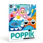 Poster panoramique + 520 stickers 4 saisons Poppik