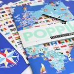 Poster géant + 200 stickers Drapeaux du monde Poppik 4