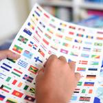 Poster géant + 200 stickers Drapeaux du monde Poppik 6