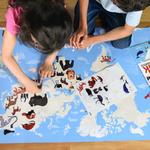 Poster géant + 67 stickers Animaux du monde Poppik 3