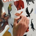 Poster géant + 67 stickers Animaux du monde Poppik 6