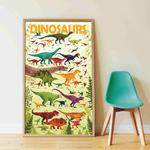 Poster géant + 32 stickers Dinosaures Poppik 2