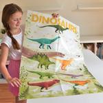Poster géant + 32 stickers Dinosaures Poppik 3