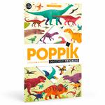 Poster géant + 32 stickers Dinosaures Poppik