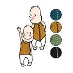 Débardeur en laine dino ManyMonths - coloris 2021