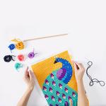 Kit tapisserie à broder Paon Sozo 2