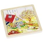 Puzzle en bois Les 4 saisons - 4 couches GOKI 2