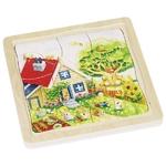 90157684_sPuzzle en bois Les 4 saisons - 4 couches GOKI