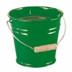 535055 Seau coloré en métal - Glückskäfer vert