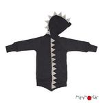 Pull à capuche Dino ManyMonths - 2021 foggy black
