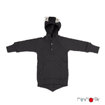 Pull à capuche Dino ManyMonths - coloris 2021 foggy black - Copie