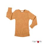 T-shirt manches longues en laine ManyMonths - coloris 2021 Honey Bread